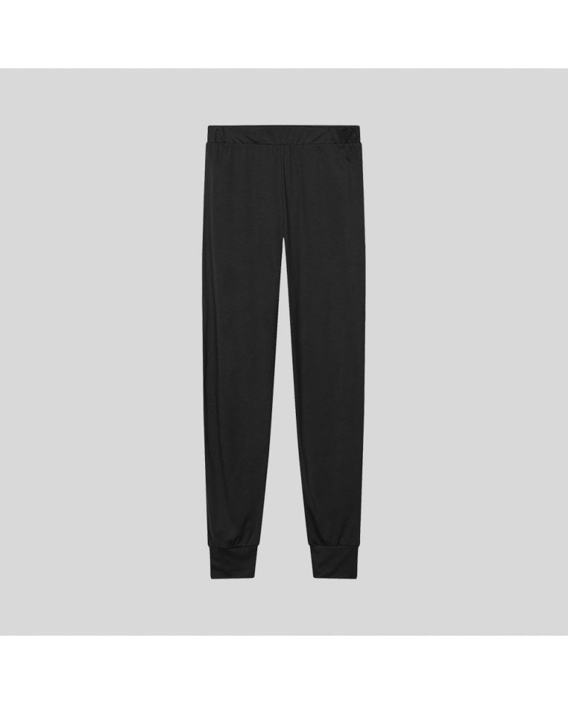 Women's PJ pants in black color. Swedish design, consciously created from silky smooth and organic Pima cotton