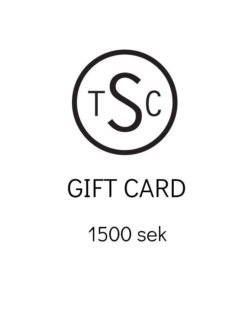 Presentkort - 1500 sek