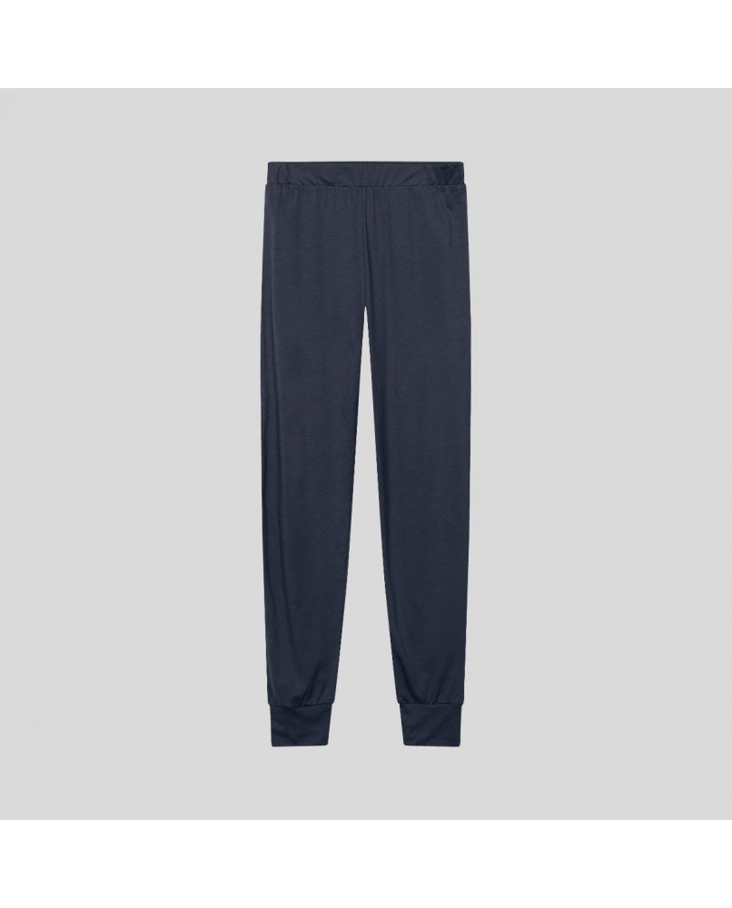 Woman pajama pants in dark grey/blue.