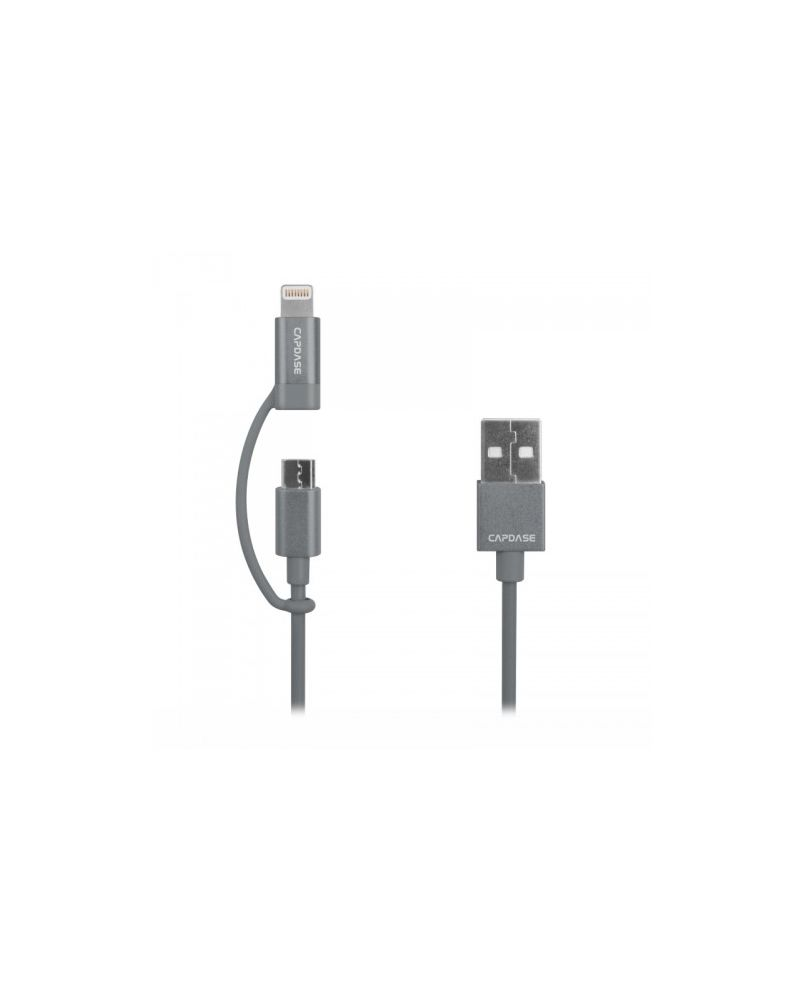 Capdase 2-In-1 Sync & Charge Cable 18cm