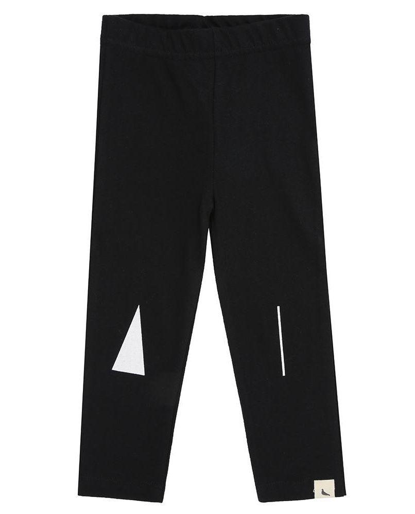 House Knee Slim Fit Leggings - black
