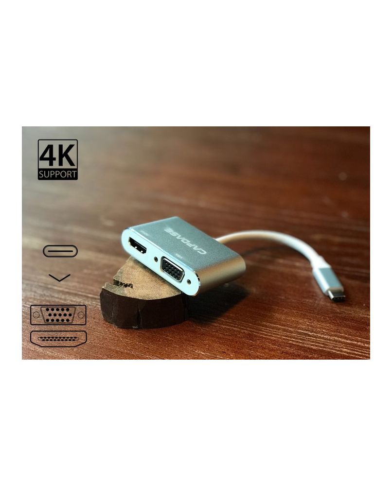 Capdase USB-C to VGA/HDMI