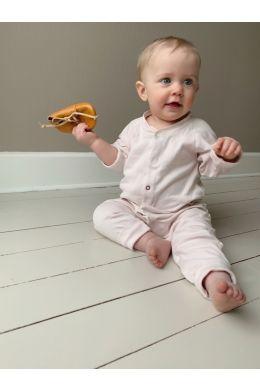 BABY SLEEPSUIT - POWDER PINK